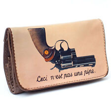 "LA SIESTA TOBACCO POUCH - ""THIS IS NOT A PIPE"" GUN DESIGN POUCH - HERB POUCH"