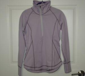 Women's Eddie Bauer High Route Grid Fleece 1/2 Zip Dusty Lavender Petite Small