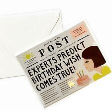 "RIFLE PAPER CO. ""Breaking News"" Birthday Greeting Card & Envelope, Single Set"