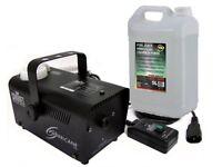 Chauvet H700 Hurricane 700 Smoke Fog Machine + Remote & 5L Fluid Party DJ Disco
