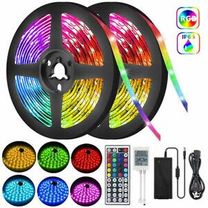 LED Strip Lights Waterproof IP65 5m 12V 44key IR Controller Adapter 5050 RGB AU