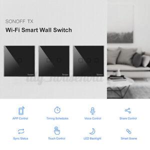 Sonoff T3 WiFi Panel EU 1 Gang Wandschalter Switch Touch/Smart/APP Steuerung