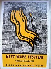 Roy Lichtenstein Next Wave Festival Brooklyn NYC 1983 Poster 24X34cm Pop Art P83