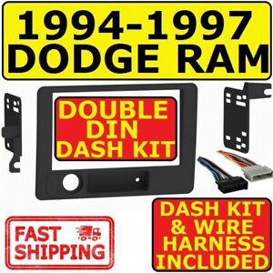 94-97 DODGE RAM DOUBLE DIN CAR RADIO STEREO INSTALLATION DASH KIT METRA 95-6555B