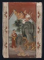 Antique THAI MANUSCRIPT GOUACHE PAINTING - 19TH CENTURY - THAILAND