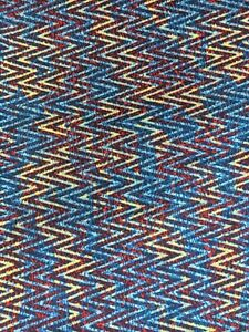 """Fabric 1 yard x 42"""" Sewing Quilting cotton zigzag chevron blue red yellow"""