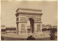 Arco Di Triomphe Da L Stella Parigi Vintage Albumina Ca 1880