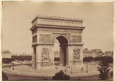 Arc de triomphe de l'Étoile Paris Vintage albumine ca 1880