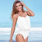 Mujer Monokini Set de bikini levantadoras Dar Cuerda MONO Bañador Tankini Baño