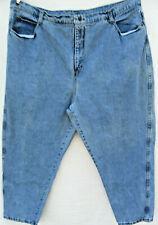 Zena women tapered Mom Jeans plus Size 26 light wash Vintage Retro 80s 90s Usa