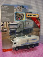 SCANIA TACTICAL COMMAND CENTER ☆white truck;POLICE☆2019 Matchbox Working Rigs