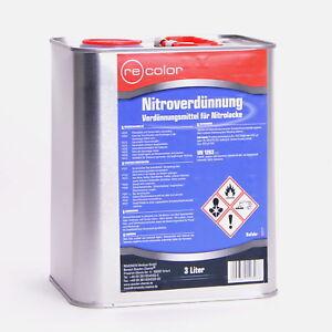Nitroverdünnung 3 Liter Nitro Verdünnung Lackverdünner Reiniger Recolor NC3000