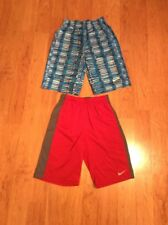 Nike Dri Fit Boys Youth Athletic Shorts Lot Of Two Red Blue Size L