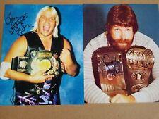 Signed 8x10 lot Dutch Mantel Tommy Rich WWE TNA NWA WWF AEW Impact Pro Wrestling
