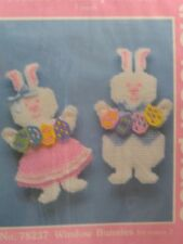 Window Bunnies by Mary Maxim, Easter Plastic Needlepoint kit