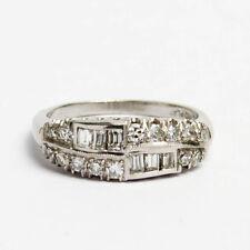 Diamant Ring aus Platin mit 1 ct Brillanten & Diamantbaguettes Verlobungsring