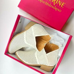 Catherine Malandrino Ryleigh Ankle Booties Boots Size 6.5 Perforated Leather