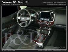Dash Trim Kit for CHEVROLET COLORADO 15 16 17 carbon fiber wood aluminum