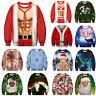 Mens Womens Christmas Funny Ugly Xmas Sweatshirt Sweater Hoodie Jumper Pullover