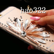 Bling crystal Diamonds Soft Feather TPU back Shell Phone Covers Cases For Nokia