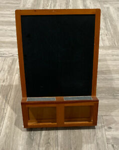 """IKEA Luns Chalkboard 19"""" by 26.75"""" wooden Frame with removable metal tins"""