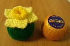 Knitting Pattern Easter Daffodil chocolate orange cover AND WOOL