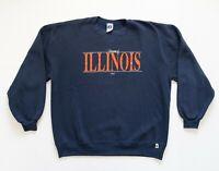 Vintage 90s Russell Sweatshirt Size XL Adult University of Illinois Crew Neck
