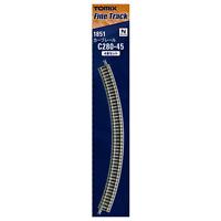 Tomix 1851 Rail Courbe / Curve Track C280-45(F) 4pcs - N