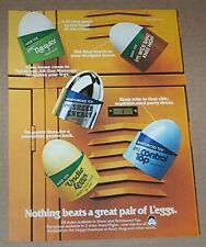 1980 print ad - L'eggs pantyhose sheer energy undie hosiery vintage Advertising