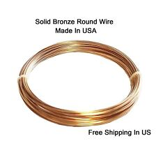 BRONZE Wire  18 Ga  28 Ft.( SOFT ) Quality Round Craft Wire 2 Oz Coil / US Made