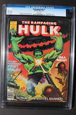 RAMPAGING HULK #1 ORIGIN 1977 Marvel B&W Magazine BLOODSTONE Solo CGC NM+ 9.6
