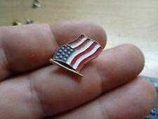 American Flag Pin Biker Badge Trucker Vest Jacket Hat Tac Emblem Made in USA