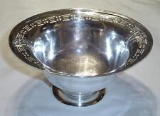 ANTIQUE ESTATE UJEP H76 HALLMARK PIERCED DESIGN SILVER PLATE CANDY/NUT BOWL