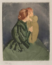 Mary Cassatt Reproductions: Peasant Mother and Child - Fine Art Print