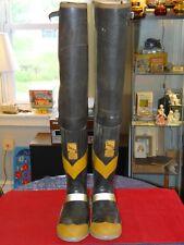 Vintage Siren UNIROYAL Fireman HIP Turnout Boots Steel Shank & Toe Mens Size 9