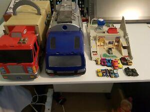 Vintage 90's Micro Machines 31x Car Bundle and 4 x Play Set Retro Miniatures Lot