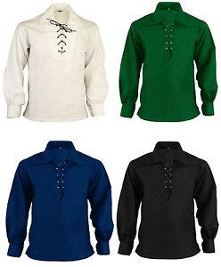 Scottish Highland Jacobite Jacobean Ghillie Kilt Shirt Tartan Sporran