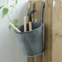 Metal Flower Pot Hanging Balcony Garden Fence Plant Planter Home Wall Decor