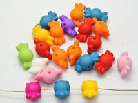 100 Mixed Color Acrylic Candy Beads 17X9mm Imitation Wooden beads