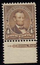 US #280b, 4¢ Lincoln, orange brown, og, NH, XF