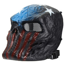 Airsoft Paintball Tactical Face Mask Combat Skull Skeleton Game Captain USA