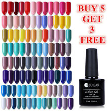 7.5ml UR SUGAR UV Gel Nail Polish Soak off Black White Nail Art Gel Varnish Tips