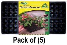 """(5) PACK JIFFY T72H 72 CELL GREENHOUSE PLANT SEED STARTER TRAY KITS 11"""" X 22"""""""