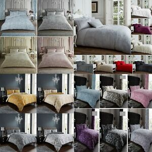 Luxury Damask Print Duvet /Quilt Cover  Reversible Bed  Set with Pillow Cases