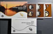 2015  U. S. MINT PROOF SET,  WITH BOX, COA & 14 PROOF COINS,  SKU-191