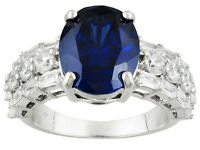Size 5 - Bella Luce 11.63ctw Tanzanite & White Diamond Simulants Sterling Ring