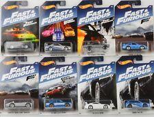 Fast & and Furious 8 pcs Set / Ford Porsche Skyline Honda Supra 1:64 Hot Wheels