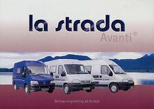 Prospectus 2002 la strada Avanti camping-car voyage portable Camping-car Motorhome
