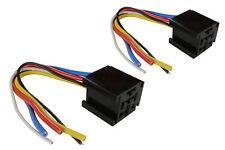 2 LOT TEMCo 12 V 60 70 80 Amp Bosch Style S Relay Harness Socket Automotive