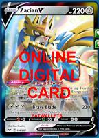 1X Zacian V 138/202 Sword & Shield Pokemon Online Digital Card